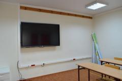Klasa w szkole z telewizorem
